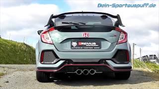 Video: Honda Civic 10 FC FK8 Type-R ab 2017 Sportauspuffanlage ab Kat. inkl. Klappensteuerung und Smartphone App von Remus