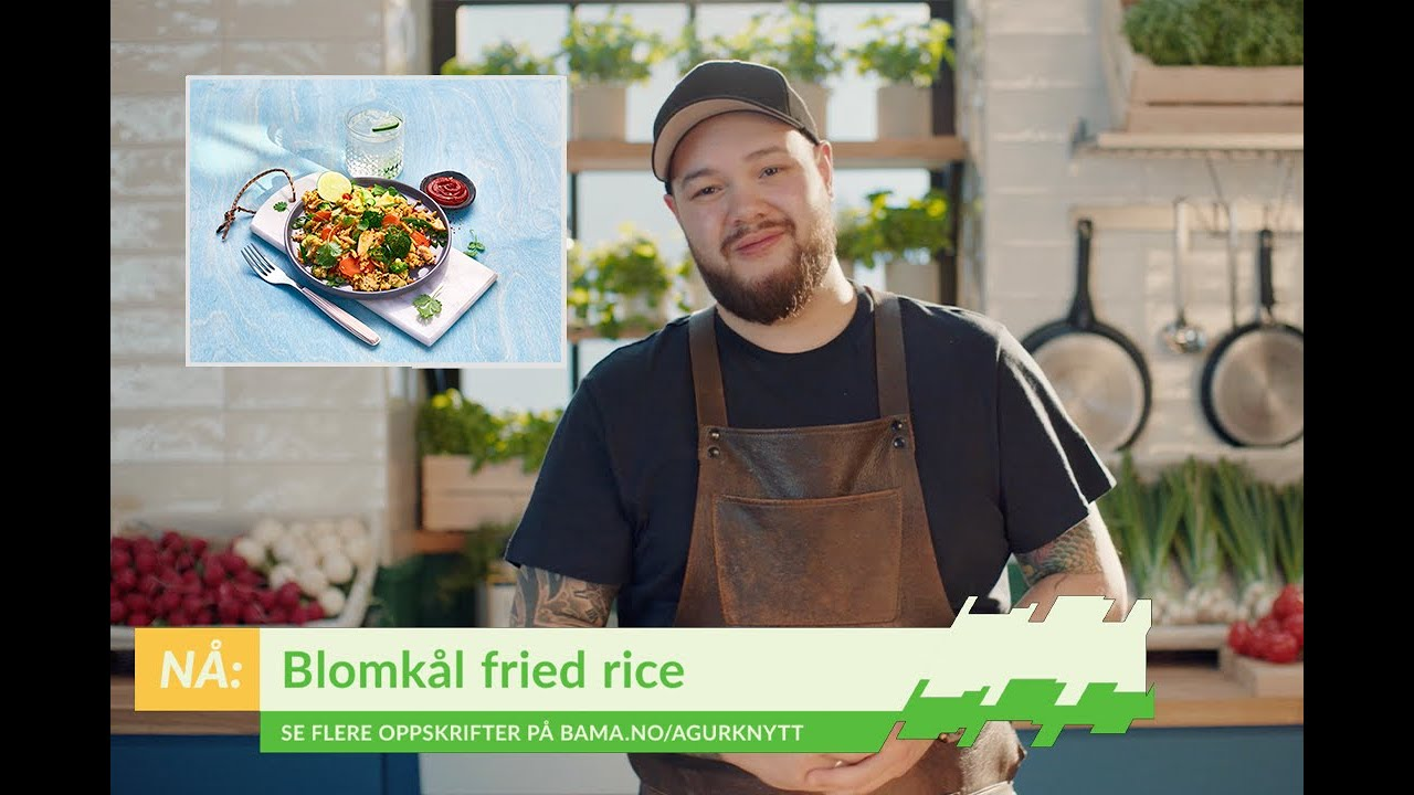 Blomkål fried rice oppskrift