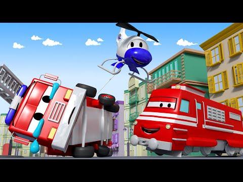 Troy der Zug -  Abrissbirne  - Autopolis ???? Lastwagen Zeichentrickfilme für Kinder