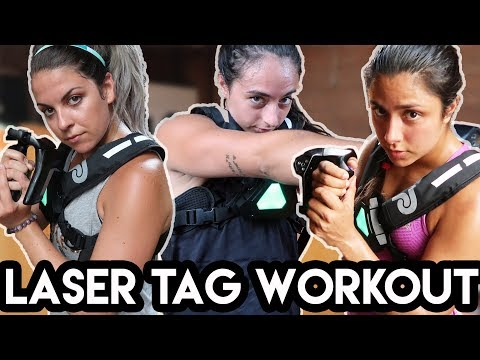We Tried An Epic Laser Tag Workout (feat. Michelle Khare + Jordan Shalhoub)