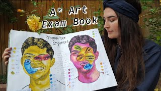 A* A Level Art Coursework / Sketchbook (Exam 2020)  *talk Through And Tips!*