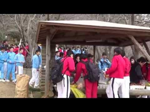 形原中学校生徒の応援