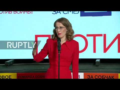 LIVE: From Ksenia Sobchak's presidential election campaign headquarters