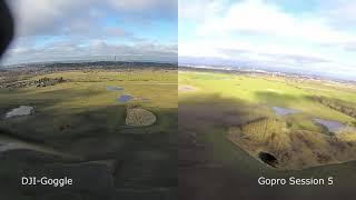 Erstflug DJI-FPV - Vergleich mit Gopro Session5