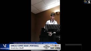Gonzalo GOMES BAIAO plays Sonata by J. Rueff #adolphesax