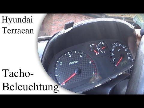 Hyundai Terracan Tachobeleuchtung reparieren | speedo light repair