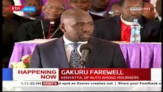 Senator Murkomen addresses mourners united at the late Nyeri Governor Gakuru Wahome's burial