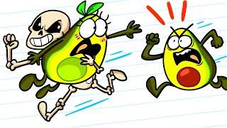 Skeleton vs Vegetables - Crazy Girlfriend Rescue | Funny Clips by Avocado Couple