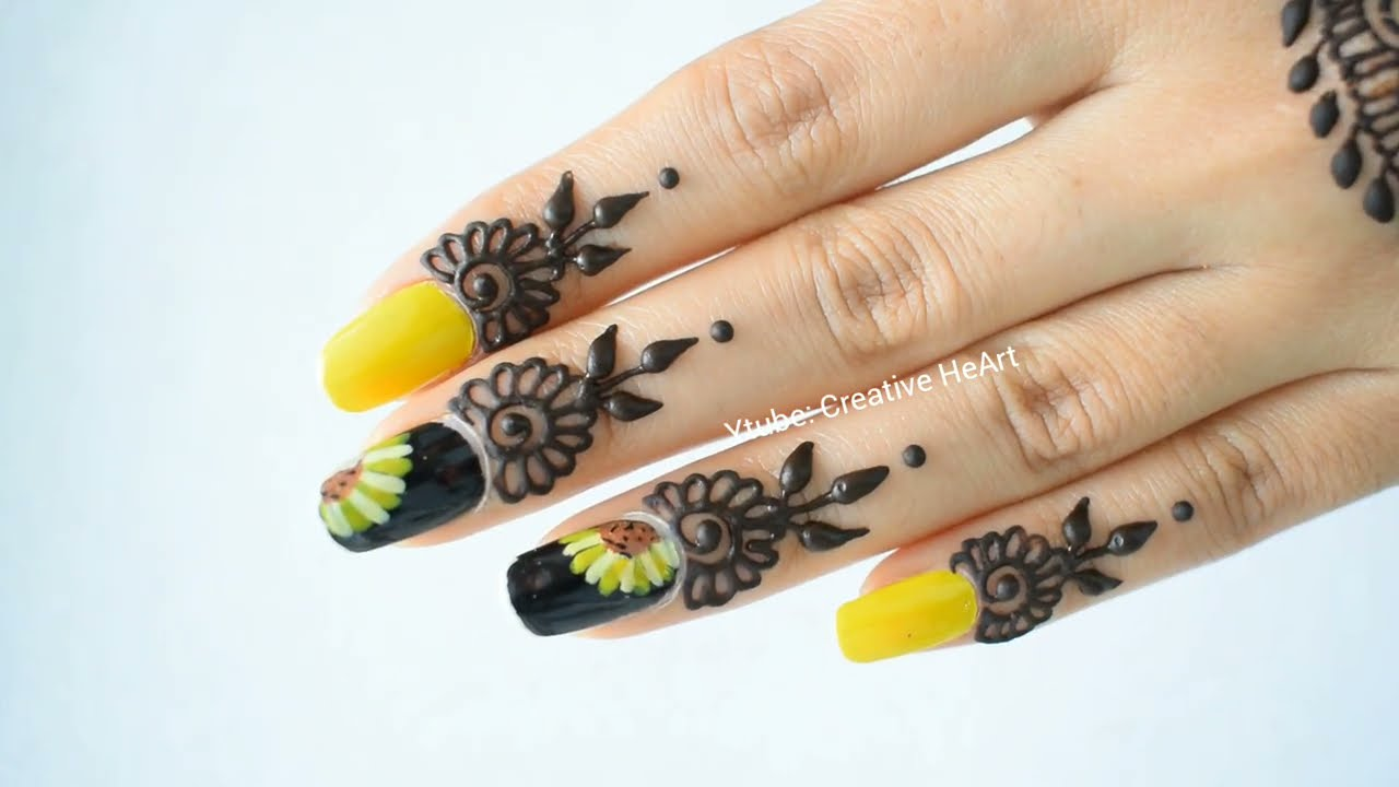 easy mandala mehndi design for beginners back hand by creative heart