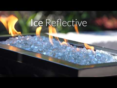 Ice Clear Reflective Fire Glass | Lakeview Outdoor Designs