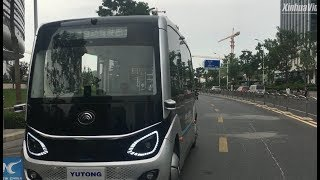 5G Self-driving Buses Hit The Road In Zhengzhou, China