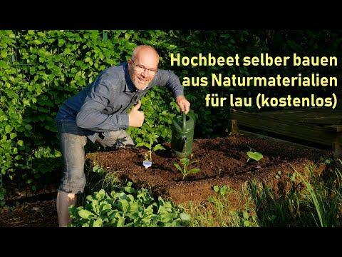 Hochbeet selber bauen / kostenlos aus Naturmaterialien / Permakultur / DIY