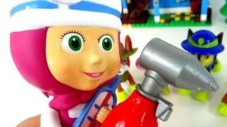 Маша Доктор лечит Щенячий Патруль. МАША и МЕДВЕДЬ - Сборник Мультики для малышей с Игрушками