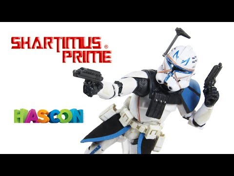 Star Wars Captain Rex Black Series Hascon 2017 Clone Wars 6 Inch Hasbro Action Figure Toy Review