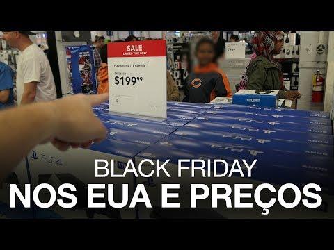 Black Friday nos Estados Unidos - Preços de Tv PS4 Xbox e mais.