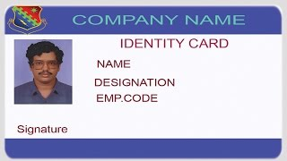 free software for id cards design photo greeting identity id card