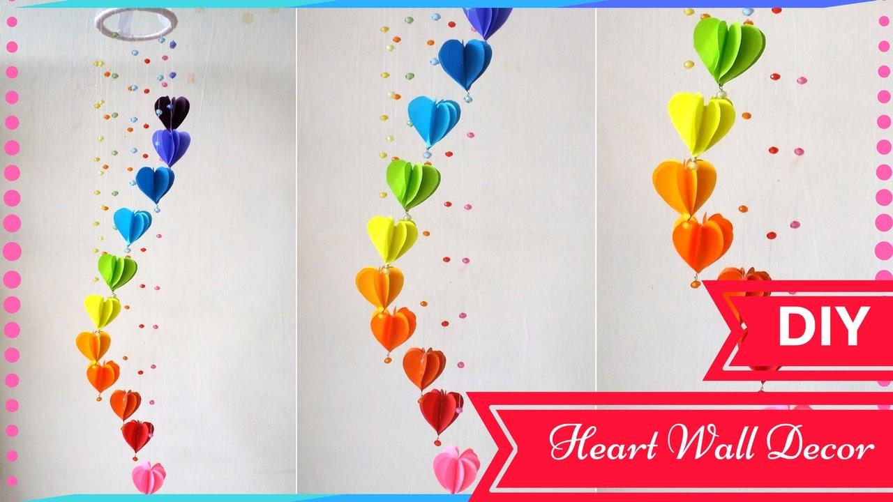 diy wall decor ideas for valentines day heart decor designs
