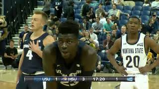 NCAAB 2018 Utah State at Montana State   1st Half
