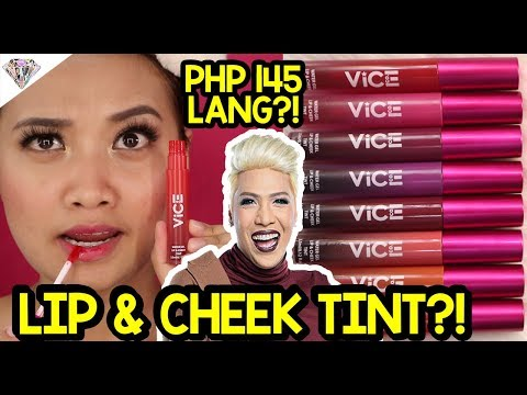 PHP 145 LIP & CHEEK TINT NG VICE COSMETICS? | REVIEW, SWATCHES, & WEAR TEST | BUY O BYE?