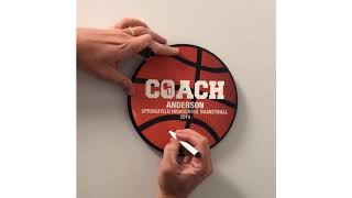Basketball Coach Plaque - A Great Gift For Basketball Coaches -