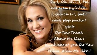 Carrie Underwood-Do You Think About Me-Lyrics