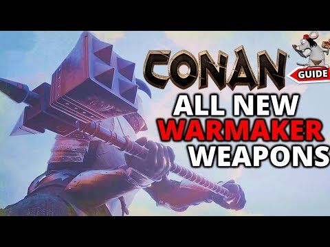 CONAN EXILES New WarMaker Sanctuary Weapons! Legendaries! And Buffs