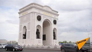 Смотровая площадка на Триумфальной арке в Астане