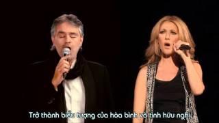 [Vietsub] The Prayer -  Celine Dion ft Andrea Bocelli [Boston 2008]