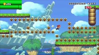 【Super Mario Maker】クリア率0.01%(1/81445)500秒フルマラソン鬼畜コースに挑戦【マリオメーカー】