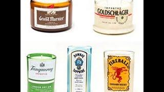 Liquor Bottle Candles - By Bottle Heaven