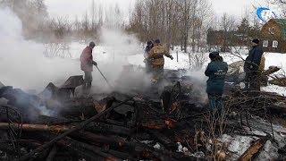 В пожаре в Маловишерском районе погибла женщина