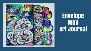 Mixed Media Art Journal Tutorial- Envelope Mini Art Journal
