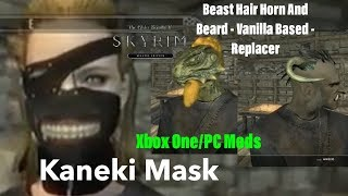 Skyrim SE Xbox One/PC Mods|Beast Hair Horn And Beard/Kaneki Mask