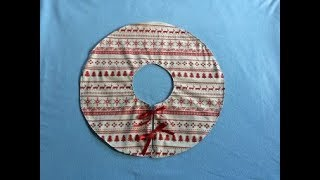 #DIY Christmas Tree Skirt | Tutorial