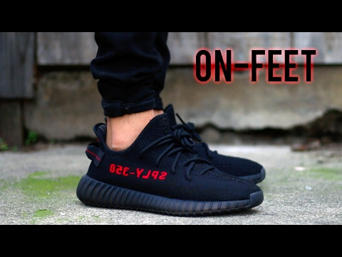online store 9ff02 78c3b Adidas yeezy boost 350 v2  bred   on-feet+review