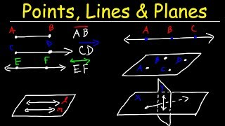 Points, Lines, Planes, Segments, & Rays - Collinear vs Coplanar Points - Geometry