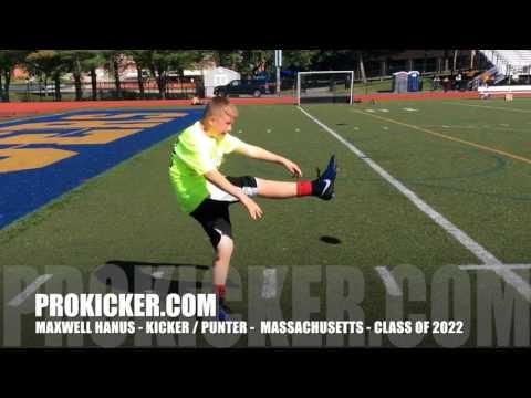 Maxwell Hanus, Prokicker.com Kicker / Punter, Class of 2022
