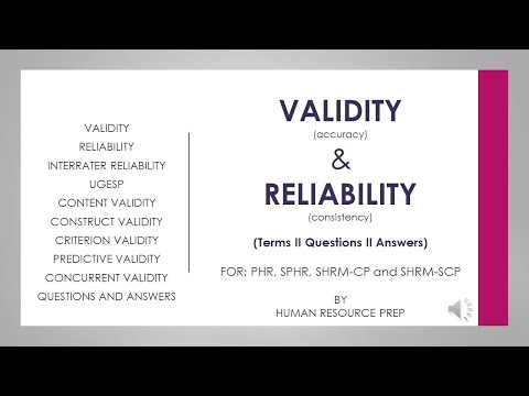 Reliability and Validity Explained:PHR, SPHR, SHRM-CP, SHRM ...