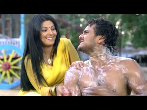 साथ में नहाईब Saath Me Nahayib - Khache Dhage - Bhojpuri Comedy Scence - Kheshari Lal Yadav