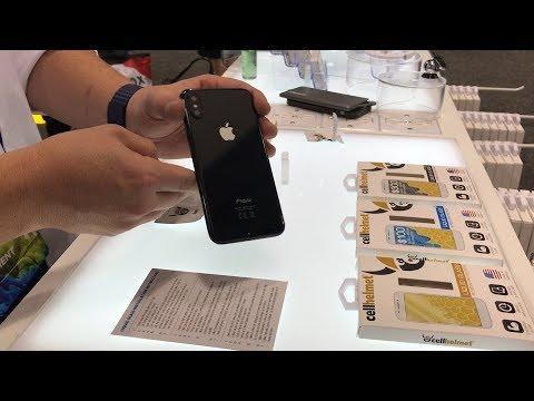 Apple iPhone X w/ cellhelmet Liquid Glass Installation