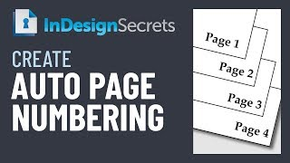 InDesign How-To: Create Automatic Page Numbering (Video Tutorial)