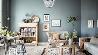 A Charming Scandi Apartment With Dark Grey Walls & Plants | Interior Design