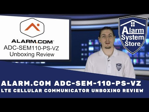 Alarm.com ADC-SEM110-PS-VZ LTE Cellular Communicator Unboxing Review - What's in it for you?