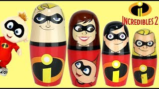 Nat Opens INCREDIBLES 2 Nesting Matryoshka Dolls! What Is Inside?