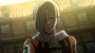 【進撃の巨人】Shingeki No Kyojin HD (EPISODE 23) - Annie Is The Female Titan Scene   アニーは、女性のタイタンに変身 第23話