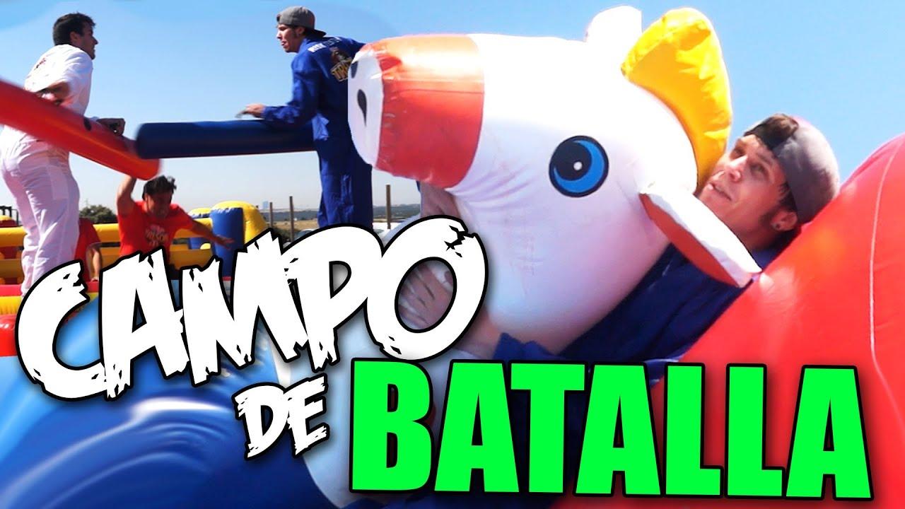 CAMPO DE BATALLA, OBSTACULOS Y CABALLOS #rubius #rubiusomg