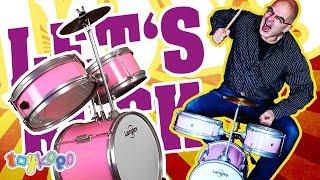 Kinder Schlagzeug für die kleine Rocker/innen / Langley Kids Drum (Unboxing / Aufbau)