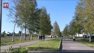 Продолжается строительство парка вдоль бульвара Юности в Великом Новгороде