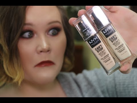 WHAT THE?! Nyx Can't Stop. Won't Stop Foundation Review!