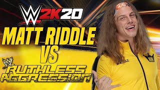 MATT RIDDLE VS THE RUTHLESS AGGRESSION ERA - WWE 2K20 Tower Mode